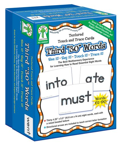 """9781933052632: Third """"30"""" Words (Textured Touch and Trace Cards)"""