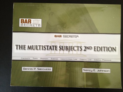 Bar Secrets: The Multistate Subjects