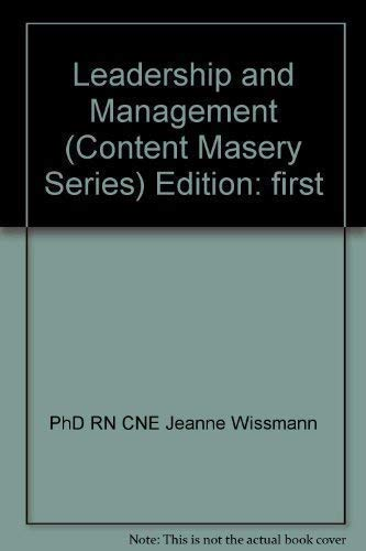 9781933107349: Leadership and Management (Content Masery Series)