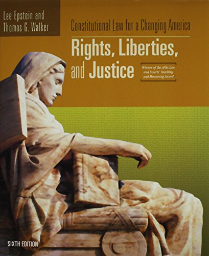 9781933116808: Constitutional Law for a Changing America: Rights, Liberties, and Justice