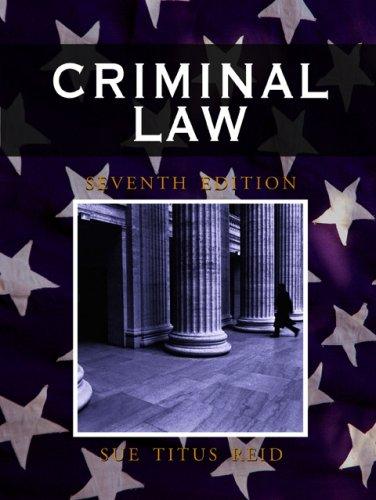 9781933220321: Criminal Law