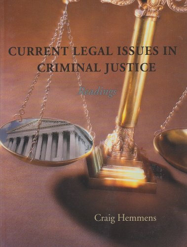 9781933220925: Current Legal Issues in Criminal Justice: Readings