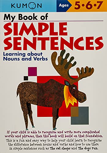 9781933241050: My Book of Simple Sentences: Learning about Nouns and Verbs (Kumon Workbooks)