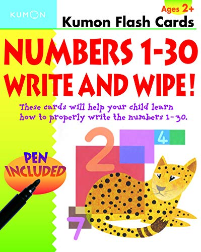 Numbers 1-30 Write & Wipe Flash Cards (Kumon Flash Cards): Kumon Publishing North America