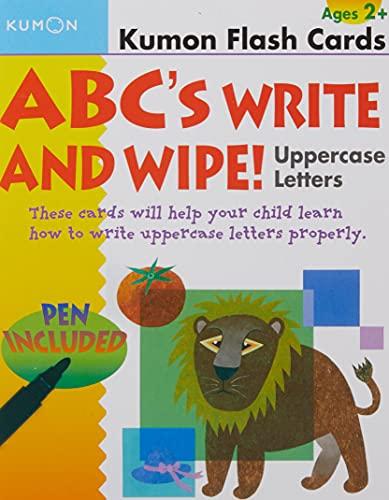 ABCs Uppercase Write & Wipe Flash Cards (Kumon Flash Cards): Kumon Publishing North America