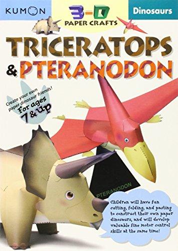 9781933241197: Dinosaurs: Triceratops & Pteranodon (Kumon 3-D Paper Crafts)