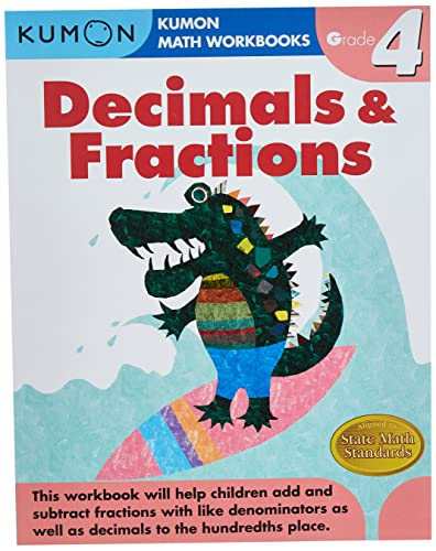 9781933241586: Grade 4 Decimals & Fractions (Kumon Math Workbooks)