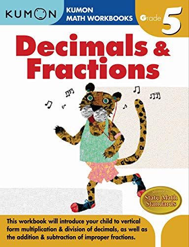 9781933241593: Grade 5 Decimals & Fractions (Kumon Math Workbooks)