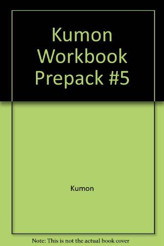 9781933241920: Kumon Workbook Prepack, No. 5: My Book of Rhyming Words & Phrases / My Book of Pasting / My Book of Number Games 1-150