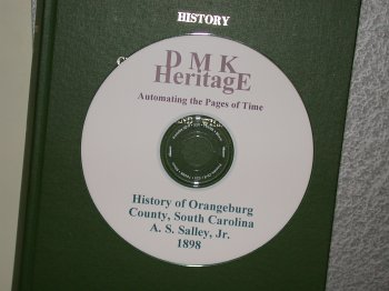 The History of Orangeburg County, S. C. 1st Settlement: Salley Jr., A. S.