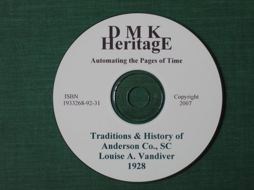 9781933268927: Traditions and History of Anderson County, South Carolina