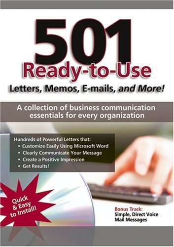 9781933328836: 501 Ready to Use Letters, Memos, E-mails, and More!