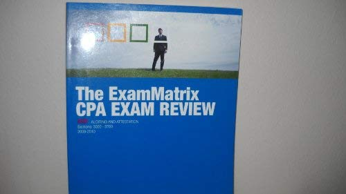 9781933366142: The ExamMatrix CPA Exam Review - AUD - Auditing and Attestation - Sections: 3000 - 3700 2008-2009