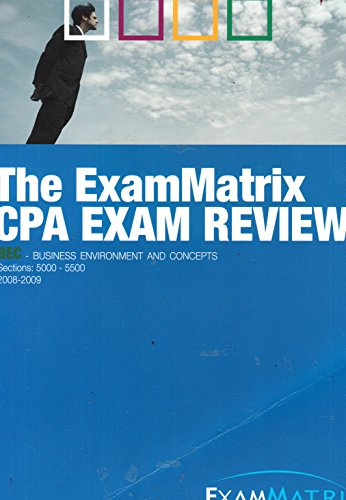 ExamMatrix CPA Exam Review - Business Environment and Concepts (2008, Paperback)