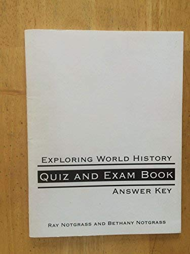 9781933410166: Exploring World History Quiz and Exam Book Answer Key
