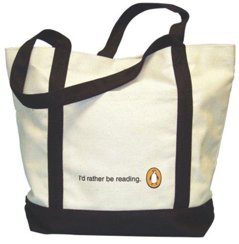 9781933438306: Penguin Tote: I'd Rather Be Reading (White)