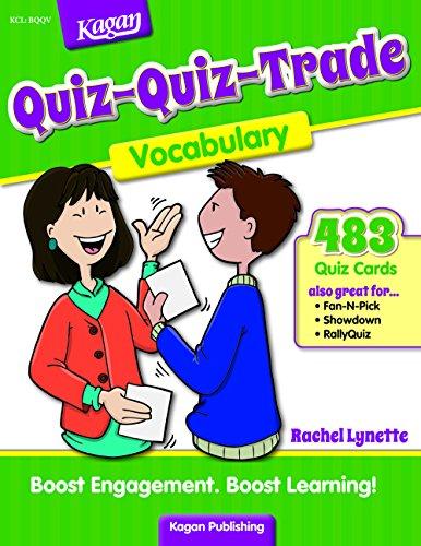 9781933445465: Quiz-Quiz-Trade: Vocabulary (Grades 2-6) 192 pages
