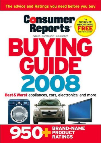 9781933524122: Consumer Reports Buying Guide: Best Buys for 2008