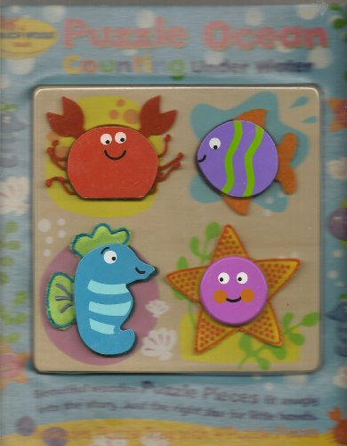Puzzle Ocean Counting under Water: Wood, Touch