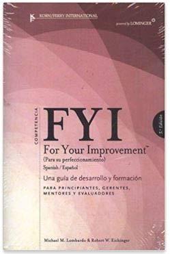 9781933578255: FYI for Your Improvement Spanish/espanol