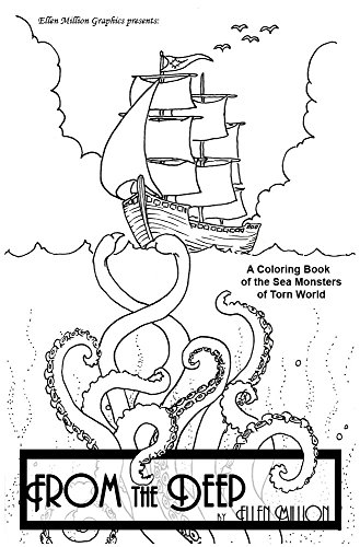 9781933603490: From the Deep; A Coloring Book of Sea Monsters
