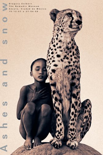 9781933632674: Ashes and Snow Mexico Child with Cheetah Poster (Standard)
