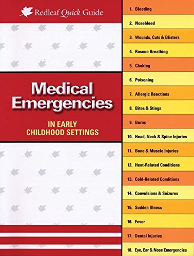 9781933653624: Medical Emergencies in Child Care Settings (Redleaf Quick Guides)