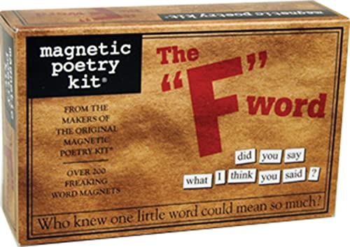 9781933682617: The F Word: Magnetic Poetry Kit by Magnetic Poetry (2014) Mass Market Paperback