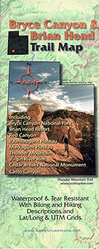 9781933783055: Bryce Canyon / Brian Head. UT Trail Map