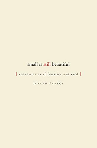 9781933859057: Small Is Still Beautiful: Economics as If Families Mattered