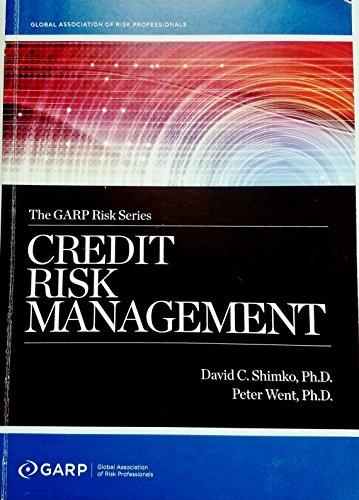 9781933861012: Credit Risk Management - The GARP Risk Series