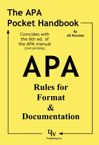 9781933878133: The APA Pocket Handbook: Rules for Format & Documentation [Conforms to 6th Edition APA]