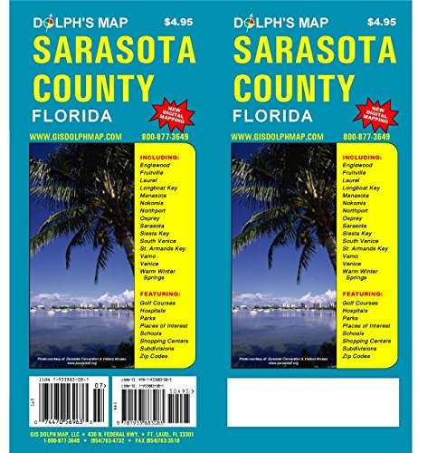 9781933883083: Sarasota County Florida Map