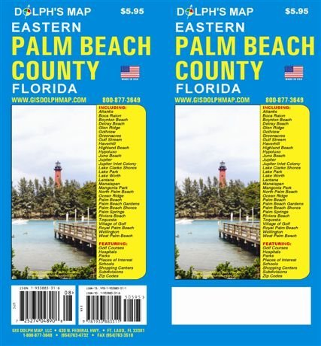 9781933883502: Palm Beach County Florida Map