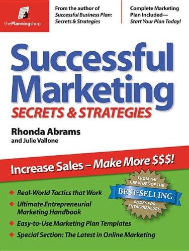 9781933895055: Successful Marketing: Secrets & Strategies