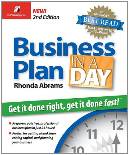 9781933895079: Business Plan in a Day: Get It Done Right, Get It Done Fast