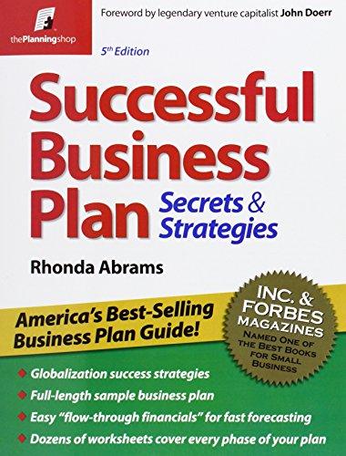 9781933895147: Successful Business Plan: Secrets & Strategies (Successful Business Plan Secrets and Strategies)