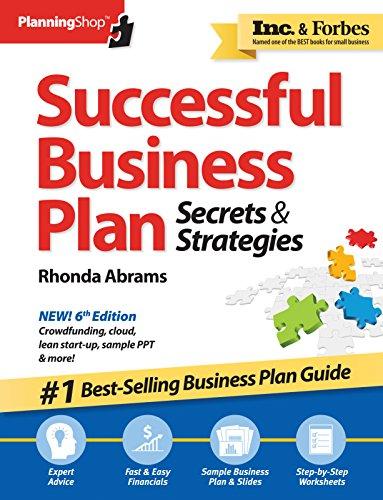 Successful Business Plan: Secrets Strategies: Rhonda Abrams