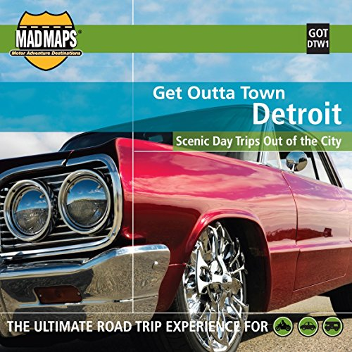 9781933911250: MAD Maps - Get Outta Town Scenic Road Trips Map - Detroit - GOTDTW1