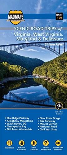 9781933911939: MAD Maps - Scenic Road Trips Map of Virginia - East West Virginia - Maryland - Delaware - USRT190