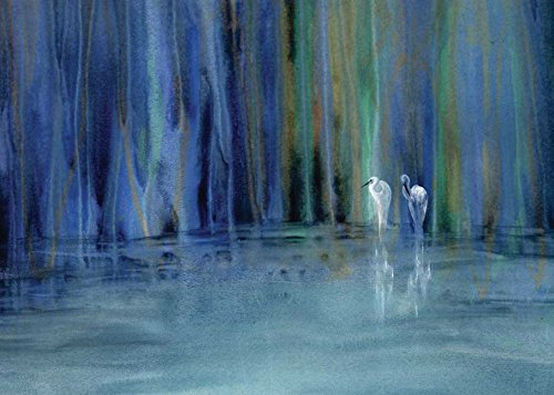9781933937489: Two Egrets Notecards (Heron Dance Watercolor Notecards)