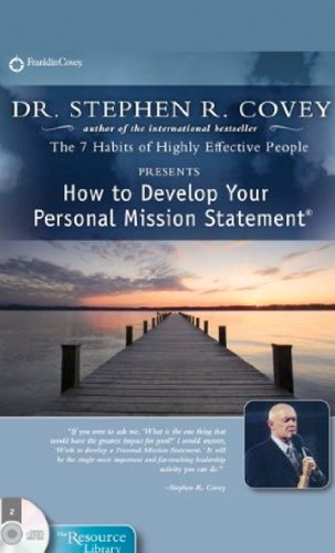 9781933976815: How to Develop a Personal Mission Statement