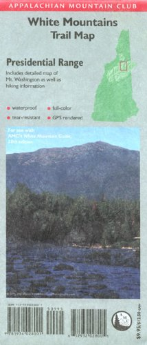 9781934028001: AMC Presidential Range Map, White Mountains, New Hampshire: Includes detailed map of Northern Presidentials and hiking information (Appalachian Mountain Club: White Mountains Trail Map)