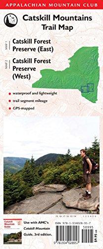 Catskill Mountains Trail Map: Catskill Forest Preserve (East)/Catskill Forest Preserve (West) ...