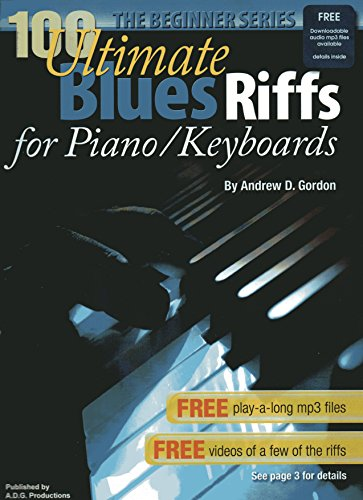 9781934163283: 100 Ultimate Blues Riffs for Piano/Keyboards Beginner Series Book/audio files