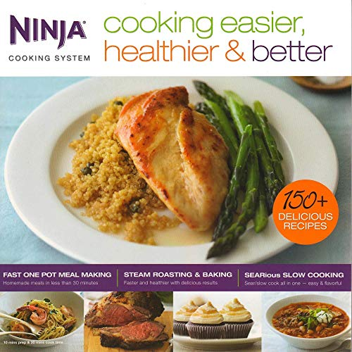 9781934193853: Ninja Cooking Easier, Healthier, & Better Cooking System 150 Recipe Book | CB700