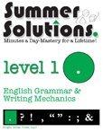 9781934210024: Summer Solutions English & Grammar Workbook (Level 1)