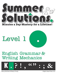 Summer Solutions English & Grammar Workbook (Level 1): Nancy L. McGraw, Nancy Tondy