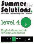 9781934210055: Summer Solutions English & Grammar Workbook (Level 4)
