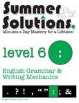 9781934210079: Summer Solutions English & Grammar Workbook (Level 6)